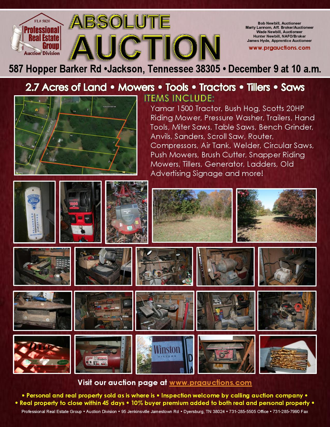 auction flyer 12 9 17 pg1 professional real estate group auction